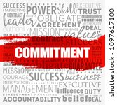 commitment word cloud collage ... | Shutterstock .eps vector #1097617100