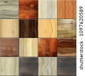 seamless square wooden tiles... | Shutterstock . vector #1097620589