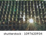vertical used hanging plant... | Shutterstock . vector #1097620934