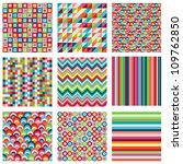 vector collection of nine... | Shutterstock .eps vector #109762850