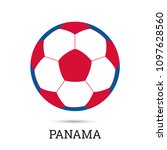 soccer ball with panamanian... | Shutterstock .eps vector #1097628560