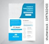flyer design. business brochure ... | Shutterstock .eps vector #1097632433