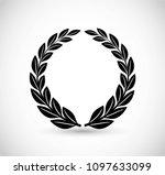 laurel vector icon | Shutterstock .eps vector #1097633099