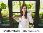 portrait of beautiful fun woman ...   Shutterstock . vector #1097633678