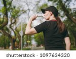 young athletic beautiful...   Shutterstock . vector #1097634320