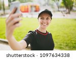 young athletic smiling...   Shutterstock . vector #1097634338