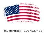 grunge usa flag.vector american ... | Shutterstock .eps vector #1097637476