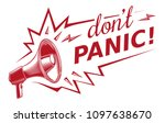 don't panic   sign with...   Shutterstock .eps vector #1097638670