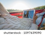 personal perspective of woman...   Shutterstock . vector #1097639090