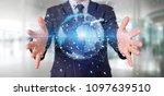 view of a businessman holding a ... | Shutterstock . vector #1097639510