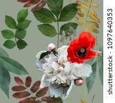 art vintage blurred colorful... | Shutterstock . vector #1097640353
