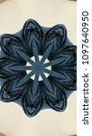 Small photo of Kaleidoscope pattern design background pattern