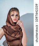 portrait of beautiful woman... | Shutterstock . vector #1097642339