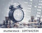 double exposure of graph  stock ...   Shutterstock . vector #1097642534