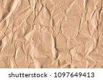 old crumpled brown paper texture | Shutterstock . vector #1097649413