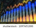 finance  analytics and stock...   Shutterstock . vector #1097651300