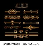 borders ornate gold decoration... | Shutterstock .eps vector #1097653673