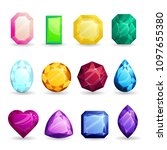 isolated colorful gemstones of... | Shutterstock .eps vector #1097655380