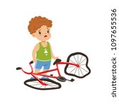 boy feeling unhappy with his... | Shutterstock .eps vector #1097655536