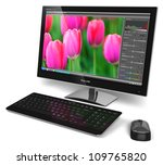 desktop computer with photo... | Shutterstock . vector #109765820