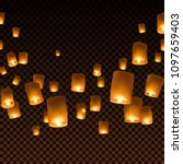 lanterns isolated on... | Shutterstock .eps vector #1097659403
