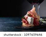 sandwich with prosciutto  blue... | Shutterstock . vector #1097659646