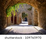 Medieval Arched Street In The...