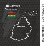 mauritius map  vector pen... | Shutterstock .eps vector #1097662799