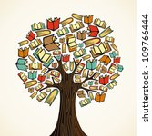 global education concept tree... | Shutterstock .eps vector #109766444