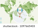guatemala  detailed map of... | Shutterstock . vector #1097665403