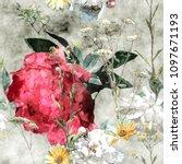 art vintage watercolor colorful ... | Shutterstock . vector #1097671193