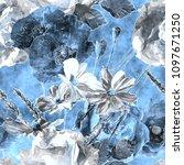 art vintage watercolor... | Shutterstock . vector #1097671250