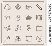 modern  simple vector icon set...   Shutterstock .eps vector #1097676080