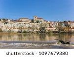duero river and colorful zamora ... | Shutterstock . vector #1097679380