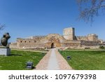 path leading to the castle of... | Shutterstock . vector #1097679398