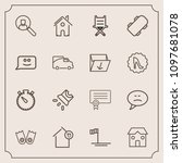 modern  simple vector icon set... | Shutterstock .eps vector #1097681078