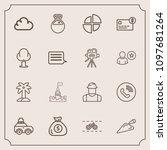 modern  simple vector icon set...   Shutterstock .eps vector #1097681264