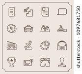 modern  simple vector icon set...   Shutterstock .eps vector #1097681750