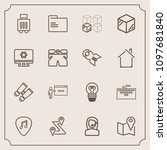 modern  simple vector icon set... | Shutterstock .eps vector #1097681840