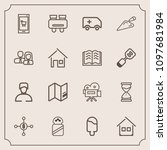 modern  simple vector icon set...   Shutterstock .eps vector #1097681984