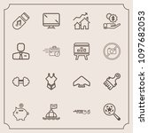 modern  simple vector icon set... | Shutterstock .eps vector #1097682053