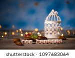 congratulation eid mubarak...   Shutterstock . vector #1097683064