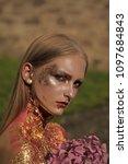 face fashion girl or women in... | Shutterstock . vector #1097684843