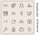 modern  simple vector icon set... | Shutterstock .eps vector #1097684918