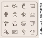 modern  simple vector icon set... | Shutterstock .eps vector #1097684990