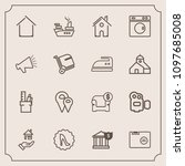 modern  simple vector icon set...   Shutterstock .eps vector #1097685008