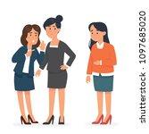 vector illustration woman... | Shutterstock .eps vector #1097685020