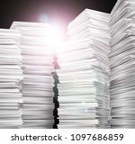 documentation. stack of white... | Shutterstock . vector #1097686859