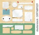 vintage scrapbooking elements.... | Shutterstock . vector #1097689529