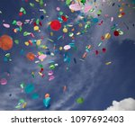 confetti falling during a... | Shutterstock . vector #1097692403